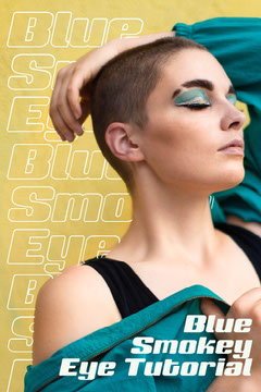 Blue & Yellow Smokey Eye Makeup Tutorial Pinterest Makeup