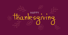 Maroon Yellow and White Happy Thanksgiving Facebook Thanksgiving