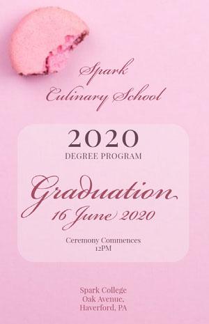 Pink Graduation Poster Cartão de graduação