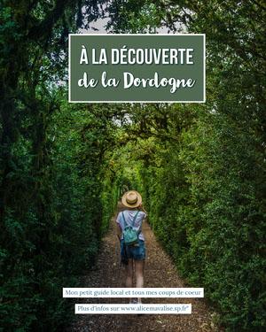 Green Local Guide Discover Dordogne Instagram Portrait  Flyer publicitaire