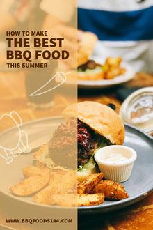 Light Toned Barbeque Food Guide Pinterest Post BBQ Menu