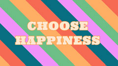 choose happiness twitter banner  Typography