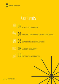 Black and Yellow Abstract White Paper Team Table of Contents Page White Paper