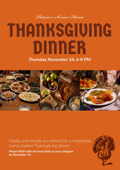 Orange and Warm Toned Collage Thanksgiving Dinner Flyer Thanksgiving Flyer