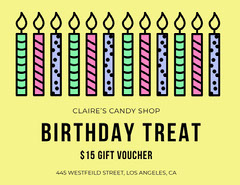 Yellow Candy Shop Birthday Coupon Discount