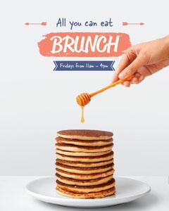 orange white navy all you can eat brunch pancakes instagram portrait  Drink