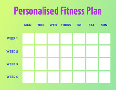 Green Gradient Fitness Planner Letter Fitness