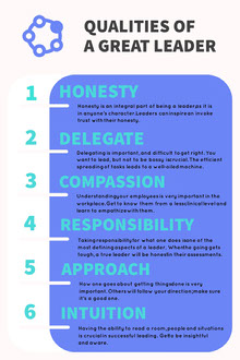 Blue Business Leadership Infographic Infografica