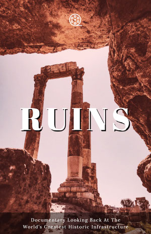 White With Ruins View Movie Poster Filmposter