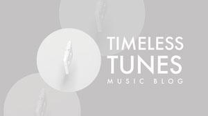 Gray Minimal Timeless Tunes Music Blog Banner Music Banner