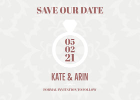 Save our Date Save the date-kort