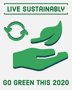 Green Live Sustainably Instagram Portrait Climate Change Posters