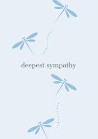 Blue Sympathy Card with Dragonflies Sympathy Card