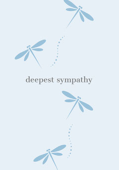 Blue Sympathy Card with Dragonflies Lifestyle