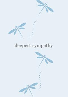 deepest sympathy  Grey
