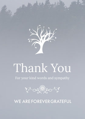 Grey and White Thank You Card Thank You Card
