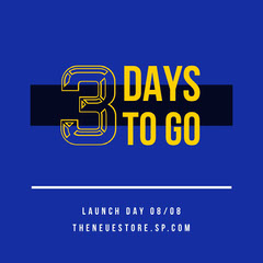 Blue Yellow Days To Go Launch Countdown Instagram Square  Countdown
