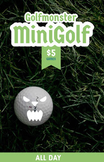 Green and Spooky Minigolf Poster Scary