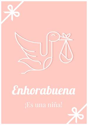 it's a girl congratulations cards Tarjeta de felicitación