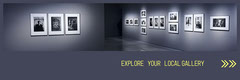 grey white yellow explore your local gallery YouTube overlay ad banner Shopping