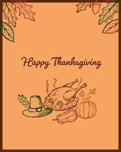 Orange Thanksgiving Igportrait Thanksgiving