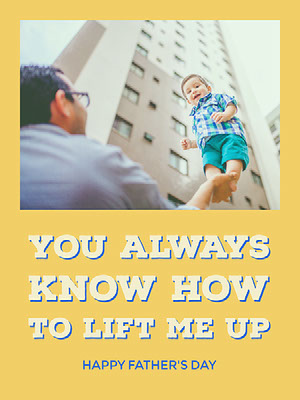 Yellow and White Fathers Day Fun Card  Father's Day Messages
