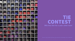 Purple and Colorful Tie Contest Ad Twitter Banner  Contest