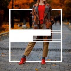 Red Shoes Autumn Sale Instagram Square Sale Flyer