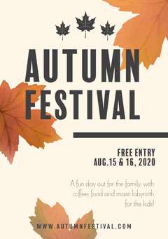 Autumn Festival  Food Flyer