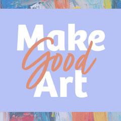 Lilac and White Make Good Art Instagram Square Art