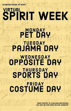yellow virtual spirit week poster  Music