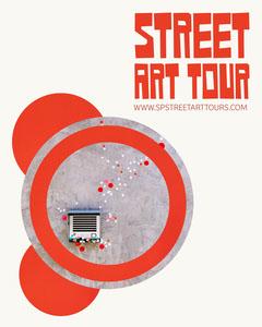 Red Street Art Tour Instagram Portrait  Art