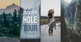 Jackson Hole Wyoming Travel and Tourism Ad with Collage Montage photo