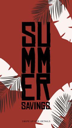 Summer Savings Instagram Story Beach