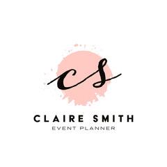 Pink Paint Splash Event Planner Logo Paint