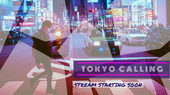 Violet and White Tokyo Calling Banner Japan