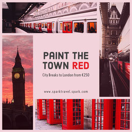 Paint the town red Collage di foto