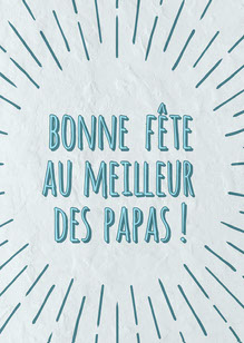Blue Spark Happy father's Day to The Best of Dads Card Carte de Fête des pères
