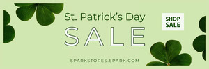 Saint Patric Day Sale Banner Banner
