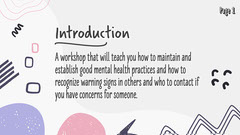 Purple Grey and Pink Creativity and Mental Health Presentation Page 1 Sign