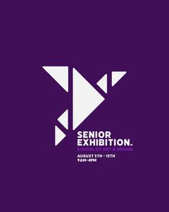 Purple Geometric Origami Exhibition Instagram Portrait  Art Show