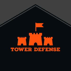 Orange and Black Game Logo Logo de jeu