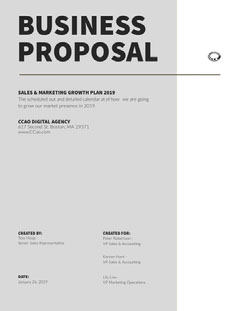 Gray Sales and Marketing Business Proposal Marketing