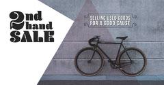Grey Secondhand Bicycle Sale Facebook Ad Bike
