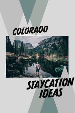 Green and Grey, Triangles, Colorado Staycation Ideas, Pinterest Post  Hike