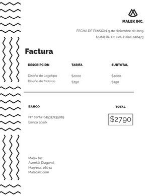 design invoice  Factura