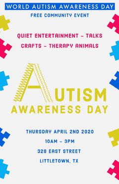 Autism Awareness Day Event Poster Awareness