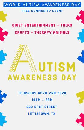 Autism Awareness Day Event Poster Folleto de invitación a evento