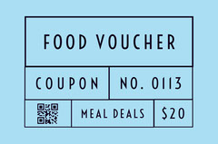 Black and Blue Food Voucher Gift Card