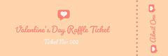 Orange Valentine's Day Raffle Ticket Valentine's Day